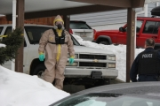 Members of the RCMP E Division Response Team for Clandestine Labs determined small quantities of solvents found in the Rosemont residence posed no risk to the community.